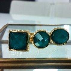 Turquoise stackable rings