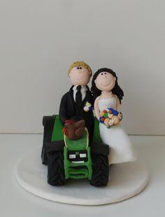 Für Euren gemeinsamen Lebensweg wünsche ich Euch alle Liebe und alles Glück dieser Welt ღ   #Tortenfigur #Hochzeitstortenfigur #Traktorbrautpaar #Landwirtbrautpaar #Bauernbrautpaar #Brautpaar #Hochzeit #Hochzeitstorte