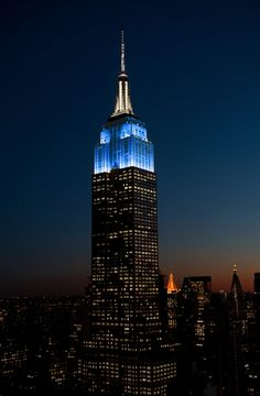 11/9/201: Blue & White for NYC & Company's New York City and Tokyo Tourism Partnership.