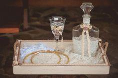 σετ γαμου δίσκος-καράφα-ποτήρι Orthodox Wedding, Wedding Wreaths, Wedding Accessories, Traditional, Table Decorations, Greek, Atelier, Greek Language, Wedding Garlands