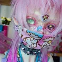 Comet is my little ball of happy ❤️❤️❤️ Custom Monster High Dolls, Custom Dolls, Gijinka Pokemon, Pastel Goth Fashion, Kawaii Doll, Look Girl, Cooler Look, Pastel Decor, Estilo Anime