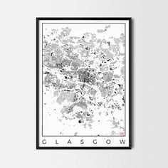 Glasgow city map art Poster -Art posters and map prints of your favorite city. Unique design of a map. Perfect for your house and office or as a gift.