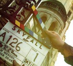 James Bond Skyfall movie clapper board