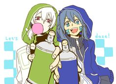 Konoha & Ene | Kagerou Project Vocaloid, Anime Songs, Kagerou Project, Happy Tree Friends, Cartoon Art Styles, Happy Summer, Noragami, Spirit Animal, Anime Love