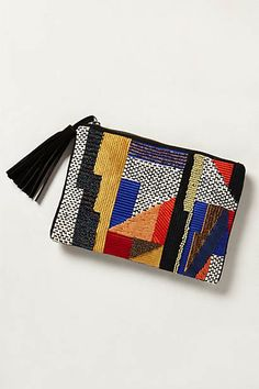 Night Cafe Pouch | anthropologie.com I wish this were a dress or a top -- it reminds me of Sonia and Robert Delaunay and Piet Mondrian's work!