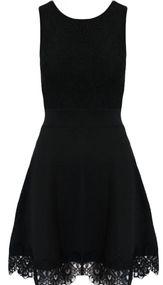 Lucie Black Lace Detail Skater Dress | Needthatdress.com