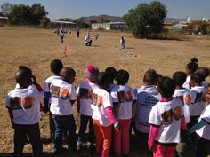 """UFO Urban Fitness SA gives the children a """"bootcamp"""" during sports week 2014. Pretoria, South Africa"""