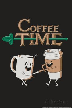 Coffee Time Snorg Tees Plastic Sign Wall sign at AllPosters.com