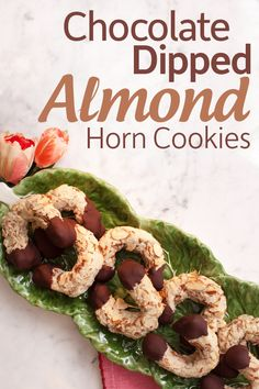 Naturally gluten-free, these Chocolate Dipped Almond Horn Cookies are a must-try dessert staple.