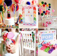 POP! This Rainbow Bubblegum Themed Birthday Party by oh goodie designs is bursting with cute ideas
