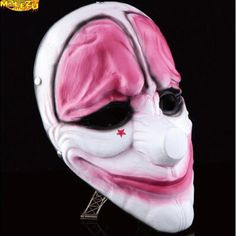 High-grade Payday 2 Hoxton Resin Masks Halloween Party Cosplay Masks Men joker Masquerade Dress Prop Festive & Party Supplies