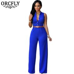 43386d208 ORCFLY Wide Leg Jumpsuit Long Plus Size Romper Monos Largos De Mujer 2016  Belted White Jumpsuit For Women 60932 Macacao Feminino