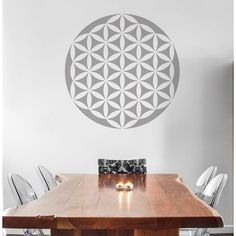 on the ceiling - Flower of life stencil yoga wall decal diy home decor