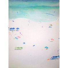"Buy Art For Less ""Simple Day at the Beach II"" by Annie Flynn Painting Print on Wrapped Canvas Size:"