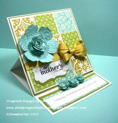 Quilt Card for Mothers Day by Julie Gearinger - Cards and Paper Crafts at Splitcoaststampers