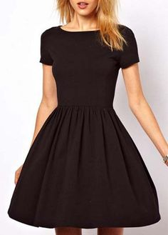 Cute flare LBD with sleeves!