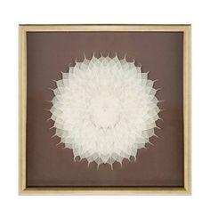 Dit schilderij Flower van het merk Riverdale geeft je interieur een persoonlijke touch door de lichte compositie in de vorm van een bloem en zit in