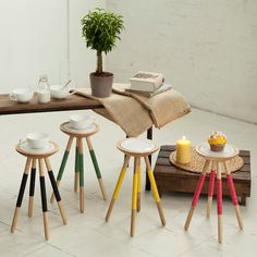 Tea for one table in green by hellodesignk on Etsy, £135.00
