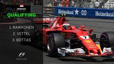 Kimi Raikkonen will be on pole for tomorrow's #MonacoGP!