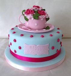 Trendy Vintage Birthday Cake For Women Afternoon Tea Vintage Birthday Cakes, 70th Birthday Cake, Birthday Cakes For Women, Birthday Wishes, Birthday Gifts, Birthday Parties, Pastel Macaroons, Happy Birthday For Her, Cupcake Cookies