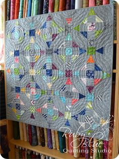 Ruby Blue Quilting Studio: Simply Style Aura. Fantastic quilt made even more fantastic by the quilting!