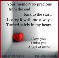 Your memory is tucked safely in my heart!