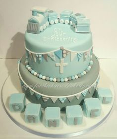 Boys Christening cake Baby Boy Cakes, Cakes For Boys, Baby Boy Gifts, Baby Shower Cakes, Baby Boy Shower, Christening Cake Boy, Baby Boy Art, Grey Nursery Boy, Baby Boy Pictures