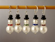 Snowmen pearl earrings!!!!! Yes Yes for ALL my sisters For Christmas