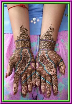 pretty mehndi (not quite tattoo but close enough)