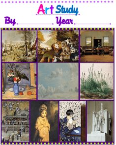 FREE Artist Study Packet (1st grade). Grades 3 - 7 available too | Tina's Dynamic Homeschool Plus
