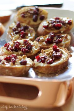 Cranberry Pecan Brie Crostiniscountryliving