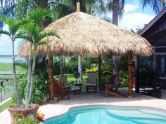 thatch roof kits for deck How Make Tiki Hut Palm Leaf Roof