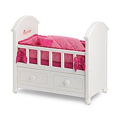This would be so cute for K's Bitty Twins.  $60 for the crib, $20 for the bedding.