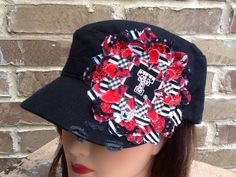 Love this hat! Team Spirit Hat Texas Tech by KBscraps on Etsy, $35.00