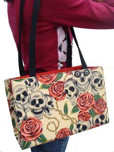 Rockabilly Tattoos   Skeleton Skull Rose Tattoos Rockabilly Gothic Halloween Biege Color US ...