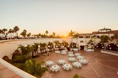 Sunset Plaza del Sol jessicafairchildphotography.com The Fess Parker Resort Santa Barbara Wedding