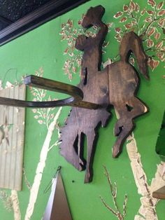 Items similar to Cowboy Hat Rack - Wyoming - Bucking Horse - Hat Holder - Rustic Rodeo Decor - Cowboy Gift - Fathers Day Gift - Hat Display on Etsy Woodworking Table Saw, Woodworking Books, Woodworking Magazine, Woodworking Classes, Woodworking Videos, Youtube Woodworking, Woodworking Supplies, Custom Woodworking, Teds Woodworking