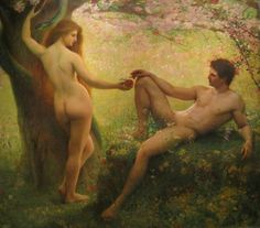 Gustave Courtois - Adam and Eve