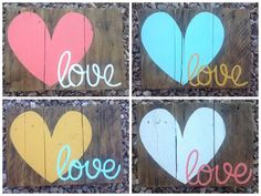 Love Pallet Signs