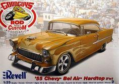 1955 Chevy Bel Air Hardtop (2 'n 1) Stock or Custom (1/25) (fs)