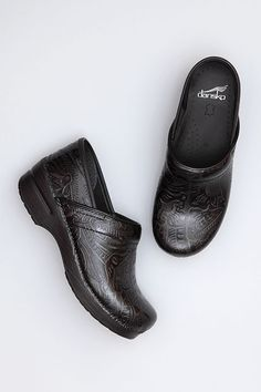 The Dansko Black Tooled from the Professional collection.