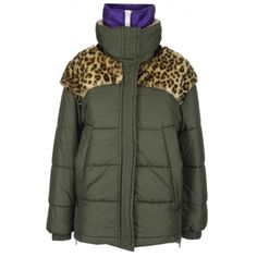 Geaca dama combo leopard, faux fur, Made in Italy, Culoare Kaki Marime 38 Fendi, Gucci, Furano, Marimo, N21, Moncler, Canada Goose Jackets, Balmain, Faux Fur