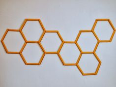 Pink Stripey Socks: DIY Honeycomb Hexagon Popsicle Stick Wall Art