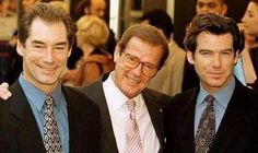 """Pierce Brosnan calls Sir Roger Moore """"big part"""" of his life as he pays tribute to fellow James Bond star James Bond Actors, James Bond Movie Posters, James Bond Movies, 007 Actors, Estilo James Bond, James Bond Style, Pierce Brosnan, Roger Moore, Bond Girls"""