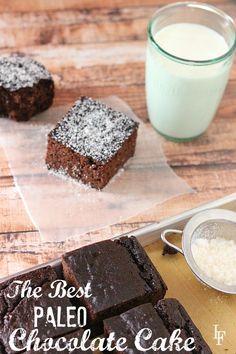 The Best Paleo Chocolate Cake Recipe. Grain free, gluten free, dairy free.
