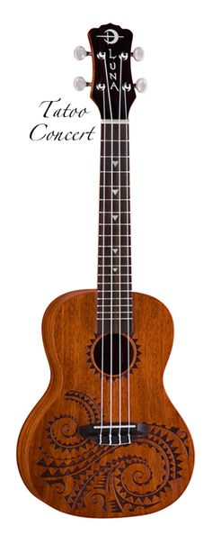 Luna Tatoo Concert Ukuele - I have this and I absolutely LOVE it. It's soprano tuned but slightly larger because it's concert sized