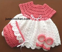 free crochet patterns of dresses and shoes Crochet For Kids, Free Crochet, Knit Crochet, Crochet Hats, Baby Patterns, Crochet Patterns, Vestidos Bebe Crochet, Knit Baby Sweaters, Crochet Baby Clothes