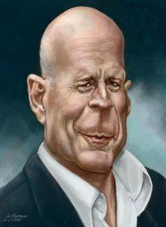 Bruce Willis, celebrity caricatures