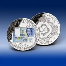 """banknoten-prägung """"100 dm-schein - clara schumann 1989"""