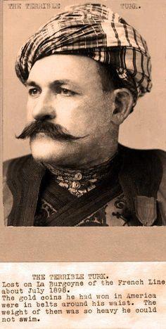 1910 tarihli yabancı bir dergiden Koca Yusuf (Korkunç Türk!)